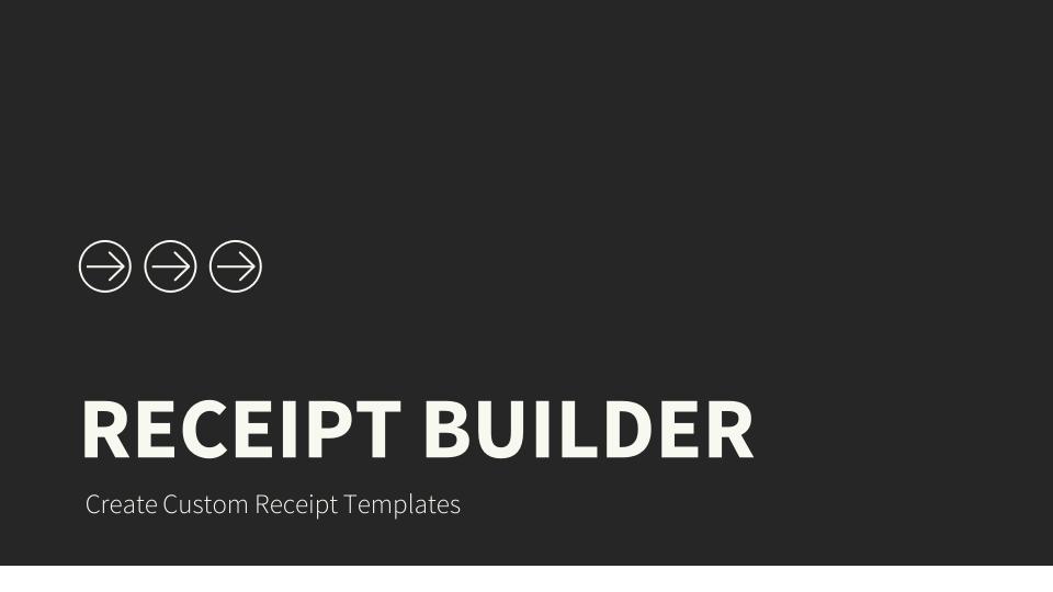 Click Pledge Connect Receipts - Receipt builder